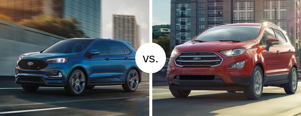 2019 Ford Edge and EcoSport models in comparison image
