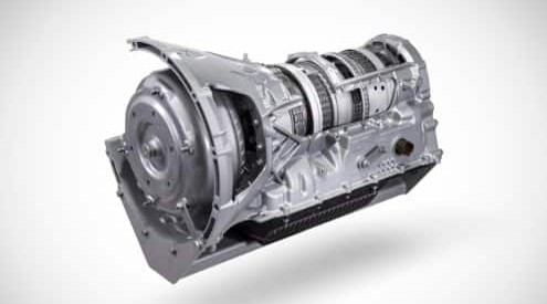 Isolated view of Ford's 10-speed TorqueFlite transmission