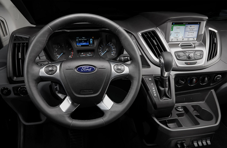 2020 Ford Transit steering wheel and centre touchscreen interface