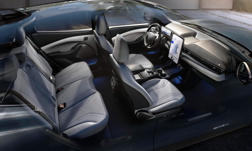 2021 Mustang Mach-E is designed with SUV-size proportions to seat five adults comfortably