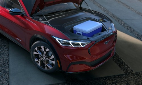 Trunk storage space of 2021 Ford Mustang Mach-E