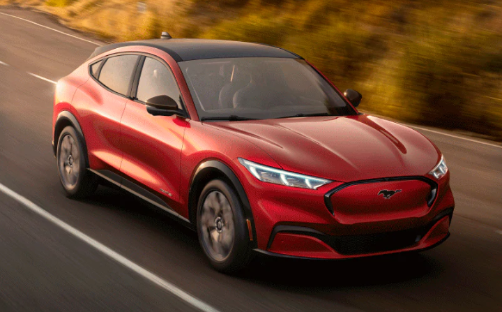 2021 Ford Mustang Mach-E in Rapid Red Metallic