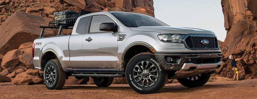 Front view of silver 2020 Ford Ranger