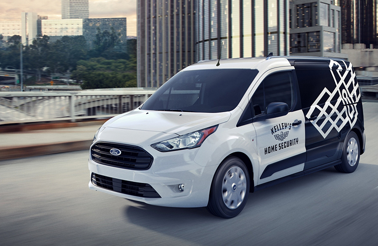 Front and side view of 2020 Ford Transit Connect