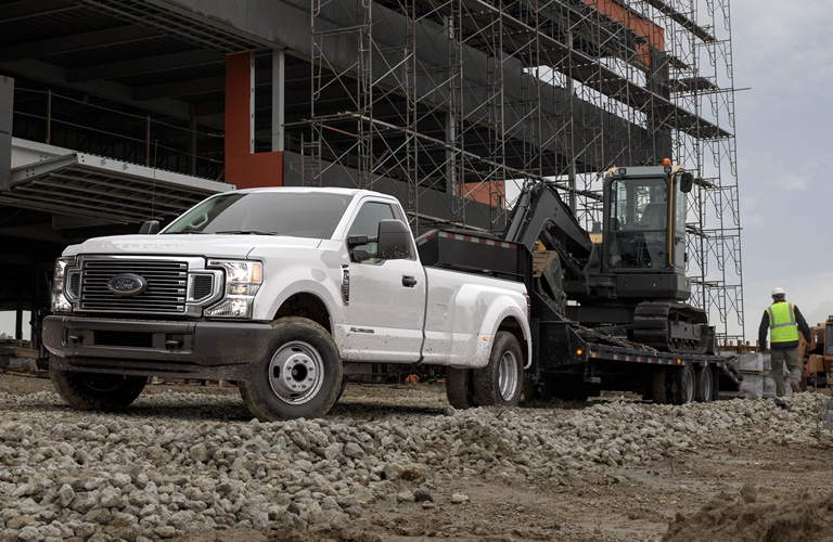 Front view of white 2020 Ford Super Duty