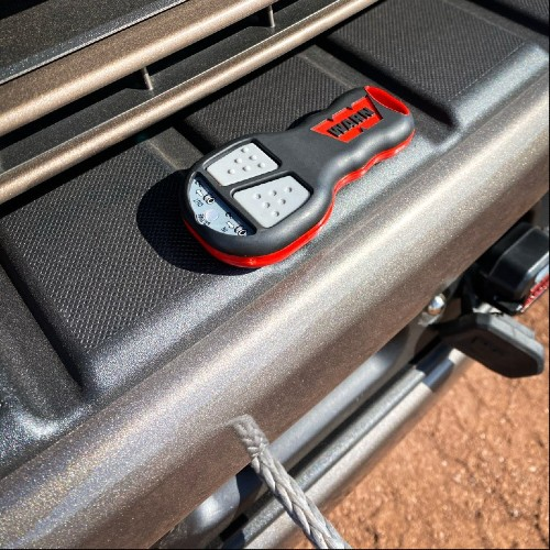Overhead view of 2020 Ford Super Duty Tremor Off-Road Series winch