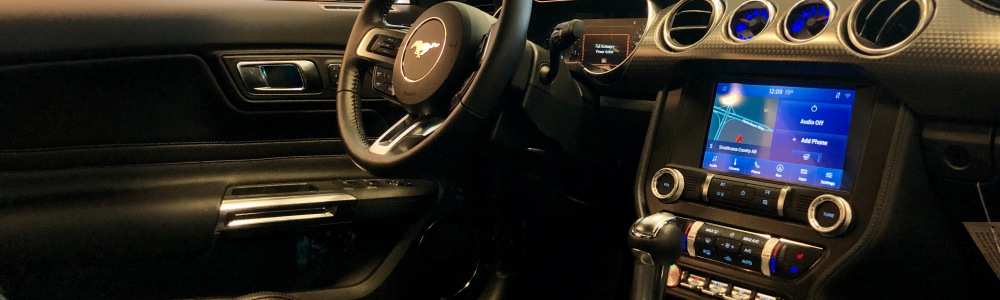 Cockpit of Ford Mustang