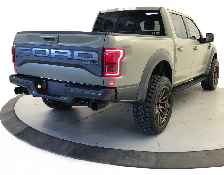 Giant Customs 2019 Ford F-150 Raptor rear side view