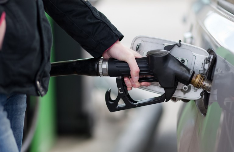 filling up a gas tank