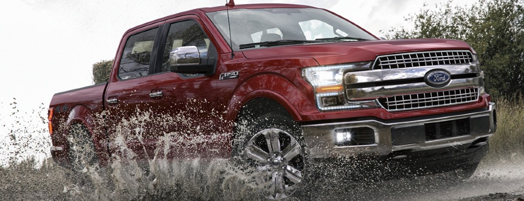 red 2020 Ford F-150 front view