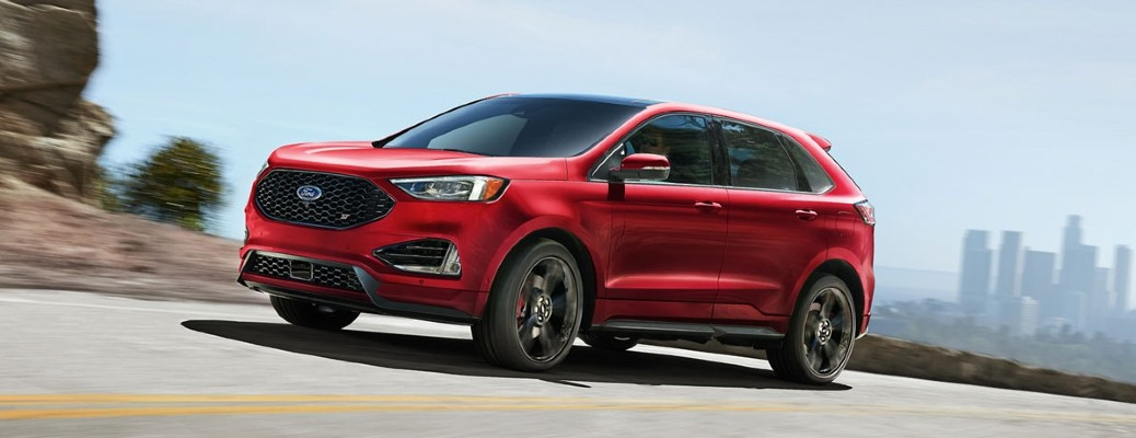red 2020 Ford Edge side view