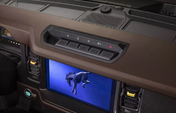 Ford Bronco display screen