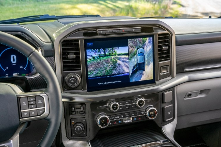 2021 Ford F-150 front screen display