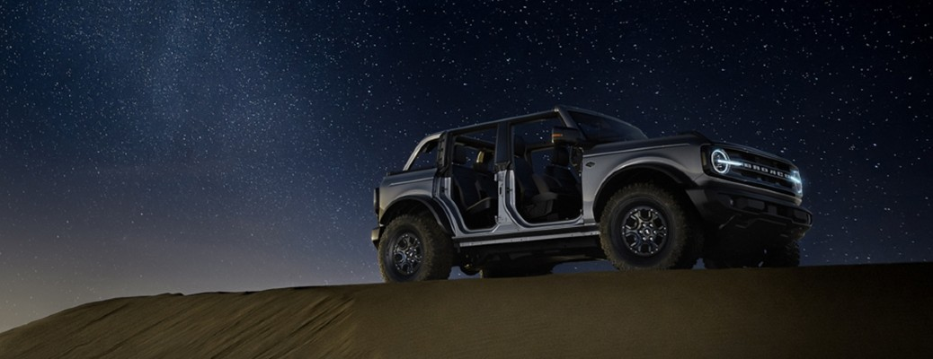 2021 Ford Bronco in the dark