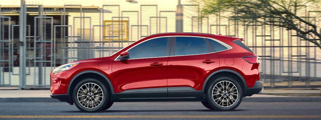 2020 Ford Escape PHEV Red on road