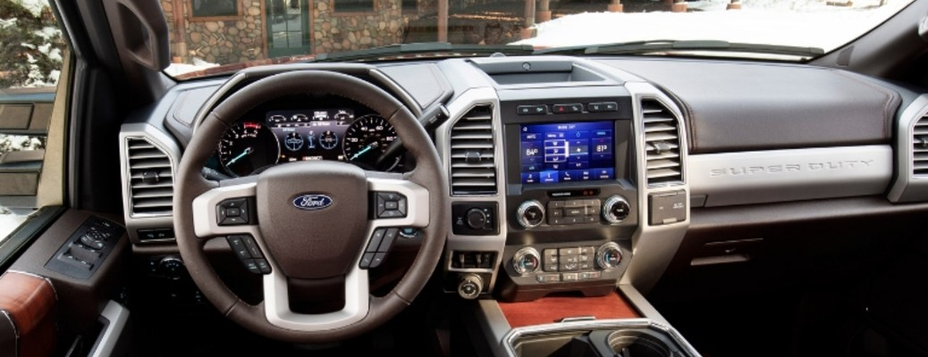 2020 Ford Super Duty interior features and specifications