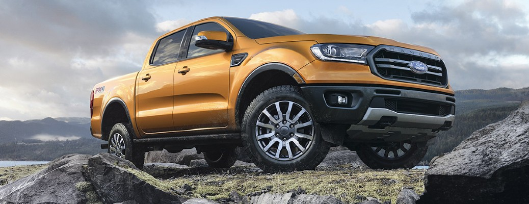 2020 Ford Ranger driving on a hill