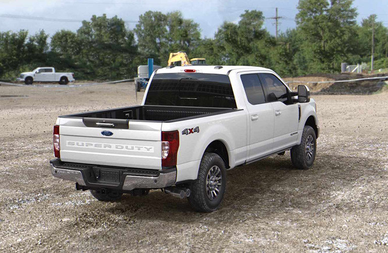 2021 Ford Super Duty pickup truck rear view