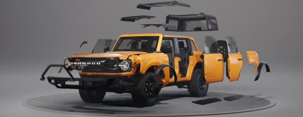 2021 Ford Bronco with removable parts