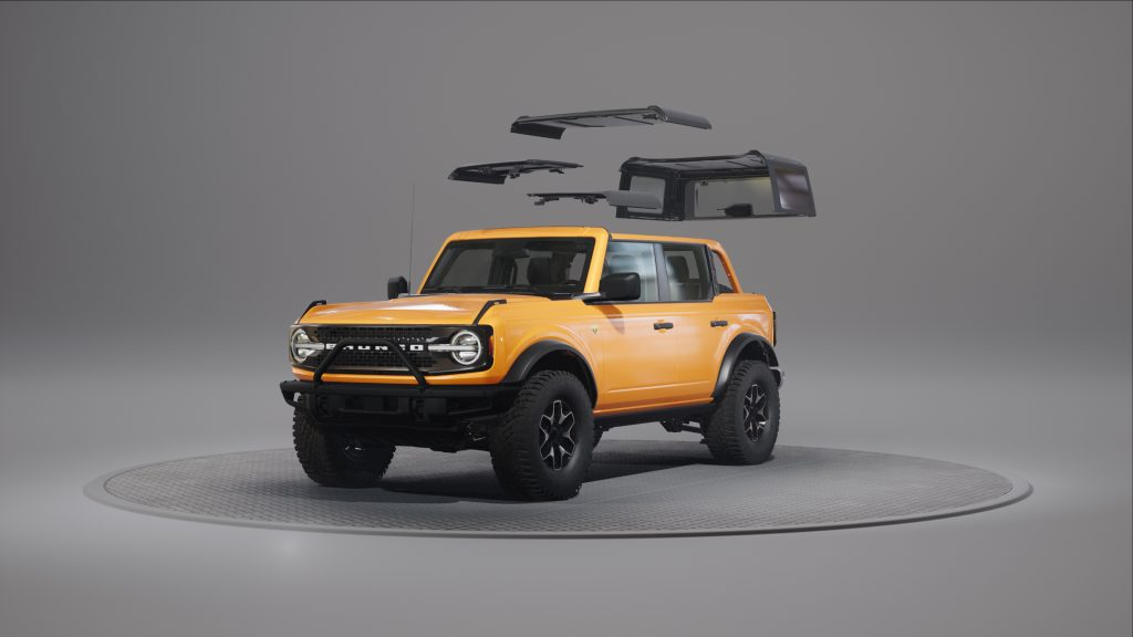 2021 Ford Bronco with roof taken off