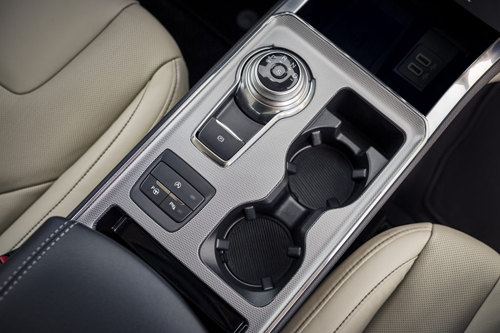 2021 Ford Edge cupholders and gear shifter