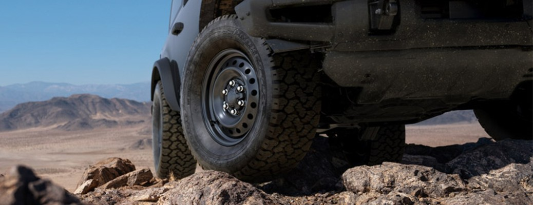 2021 Ford Bronco tires close up