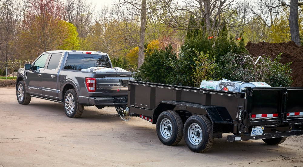 2021 Ford F-150 with a trailer