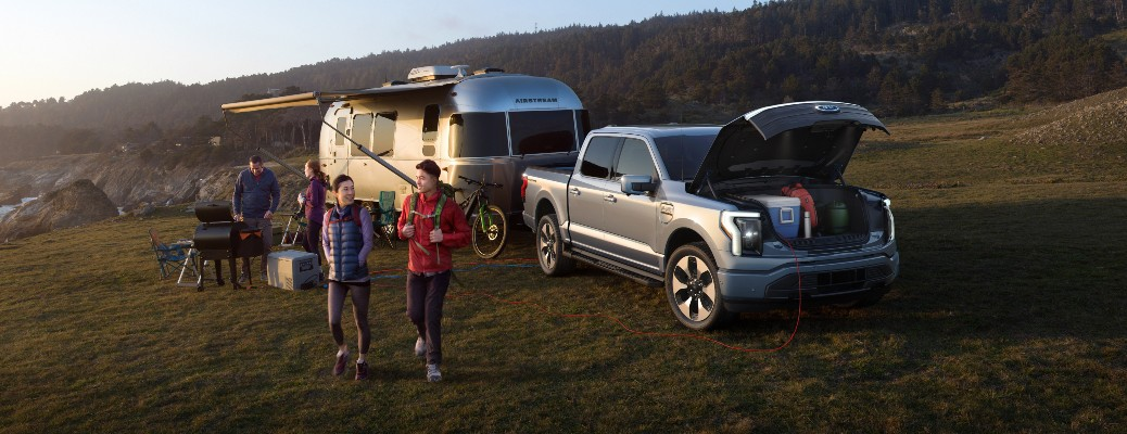 2022 Ford F-150 Lightning with campers