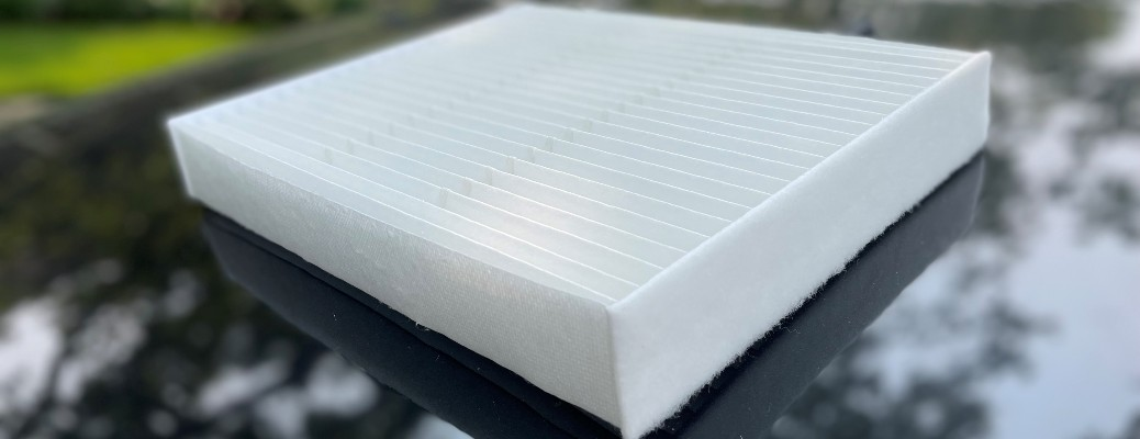 Ford Refresh95 cabin air filter side and top view
