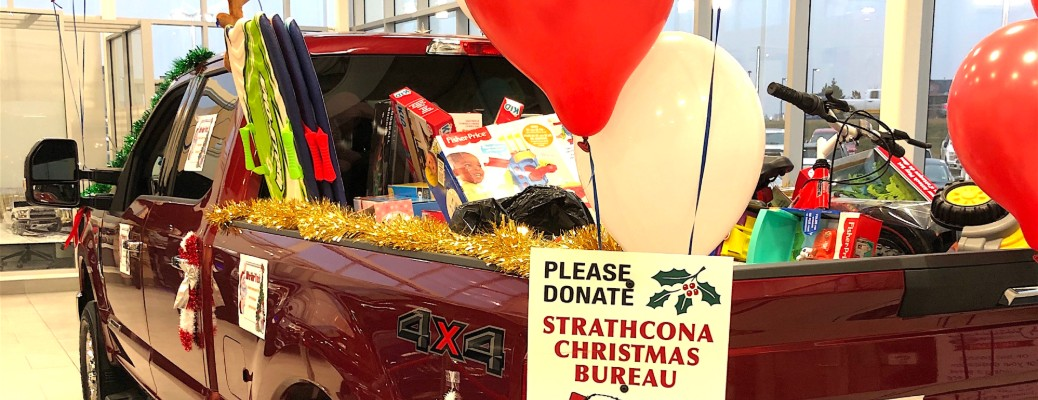 Help us stuff a truck with Christmas gifts throughout November!