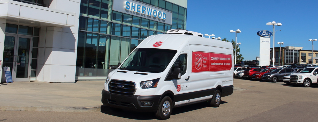 Sherwood Ford provides a Ford Transit Van to the Salvation Army in Edmonton, AB