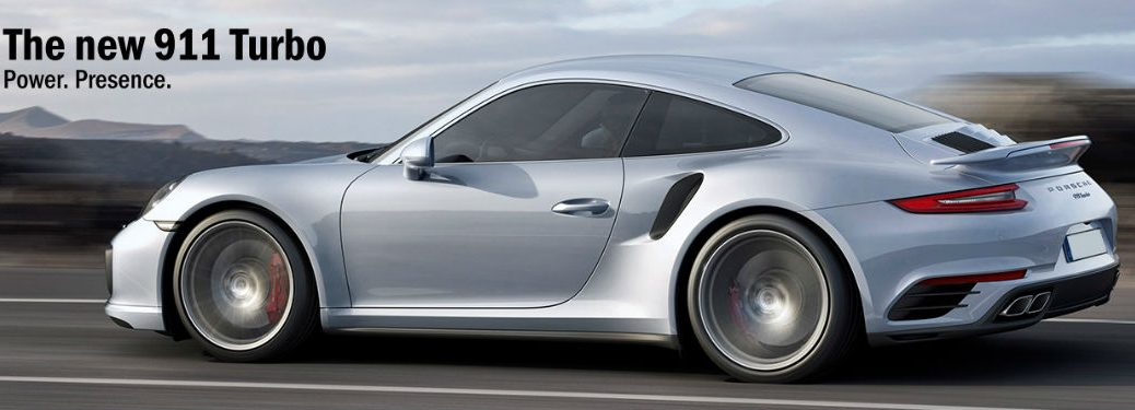 Porsche 911 Turbo driving down highway