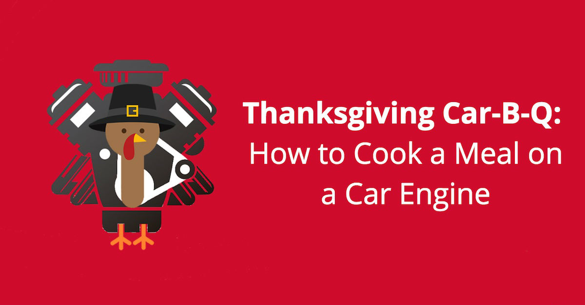 Thanksgiving Car-B-Q - how to cook a meal on a car engine