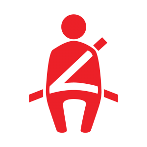 seat belt reminder indicator warning light