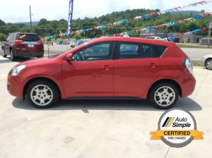 Red 2009 Pontiac Vibe - best pre-owned car