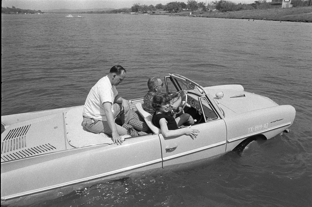 what car did Lyndon B. Johnson LBJ drive - Amphicar