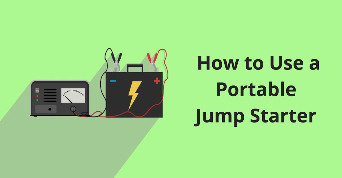 How To Use A Portable Jump Starter Auto Simple