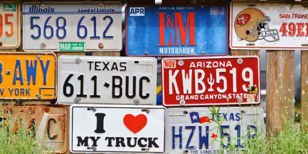 Multiple vehicle license plates