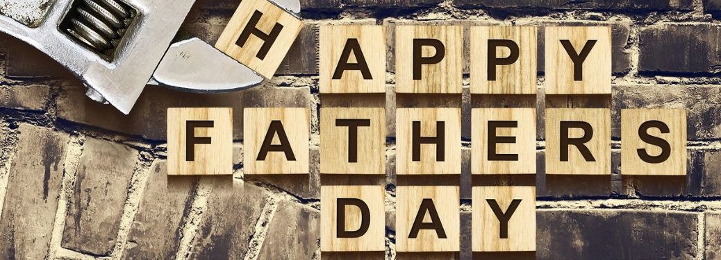 Happy Father's Day in scrabble letters