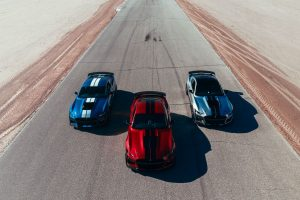 three 2020 Ford Mustang Shelby GT500 models