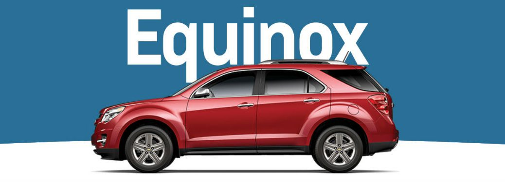 side view of a red Chevy Equinox