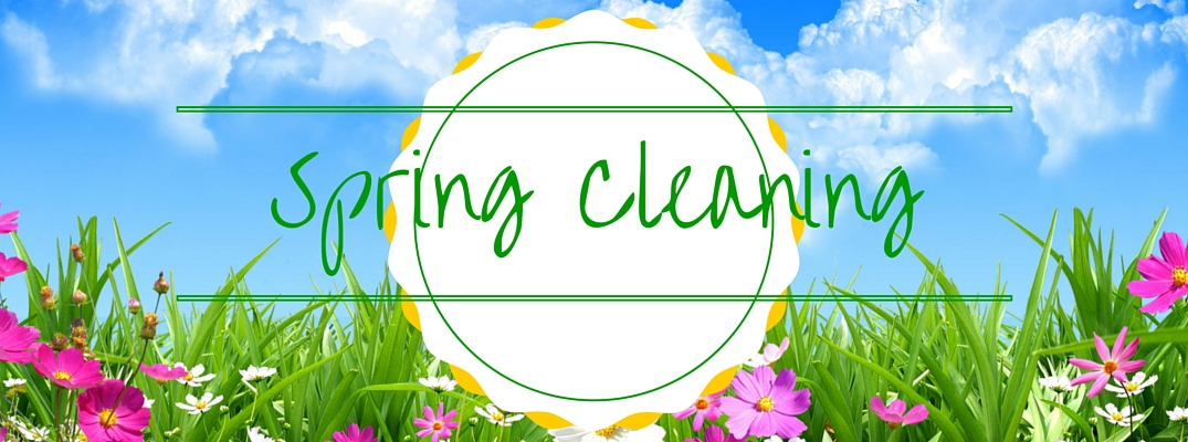 Spring Cleaning on grass and flowers