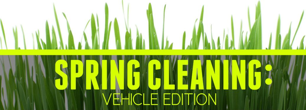Spring Cleaning Vehicle Edition written on grass