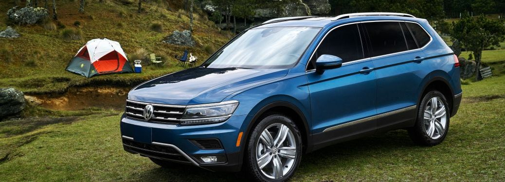 2019 Volkswagen Tiguan parked at a camping site