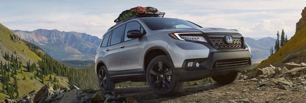 2019 Honda Passport on a beautiful hill