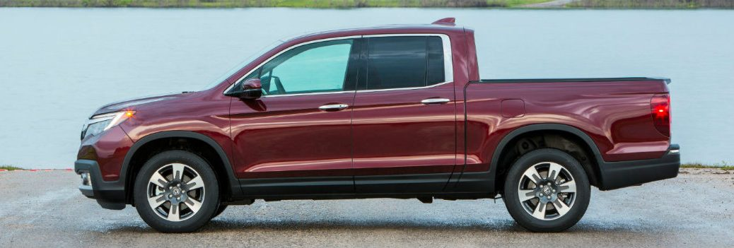 2019 Honda Ridgeline by the water