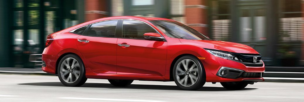 2019 Honda Civic driving in the city