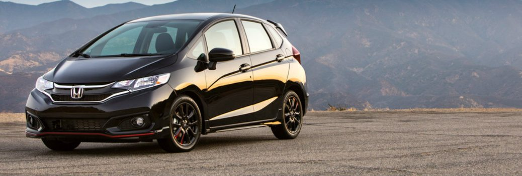 2019 Honda Fit parked on a hilltop