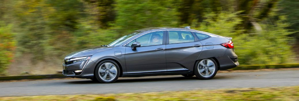 2018 Honda Clarity driving down the road