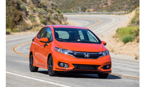 2019 Honda Fit cruising down the road